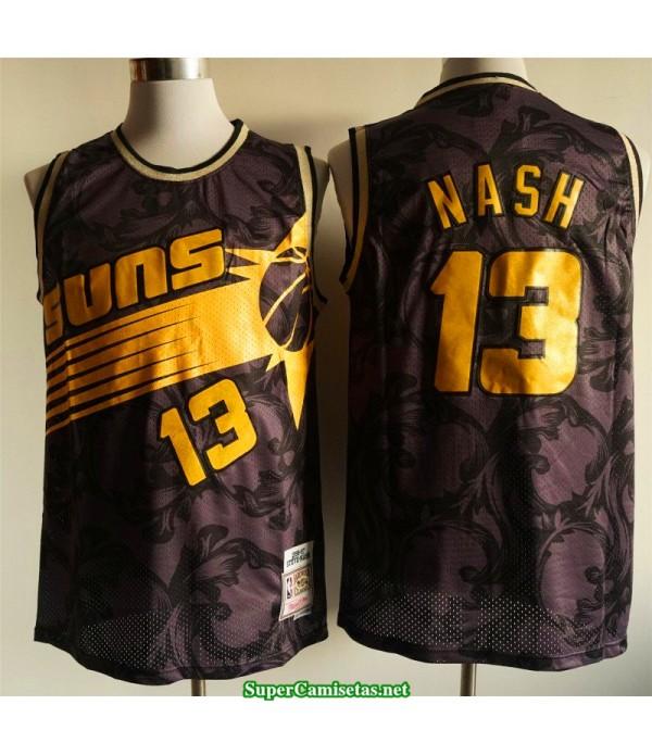 Camiseta Nash 13 negra dorada Phoenix Suns 2020