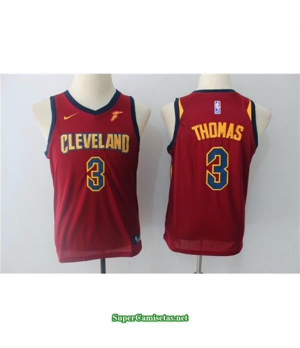 Camiseta NIÑOS Thomas 3 roja cleveland cavaliers