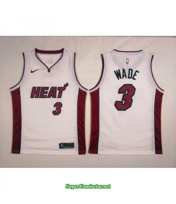Camiseta Wade 2 blanca Miami Heat