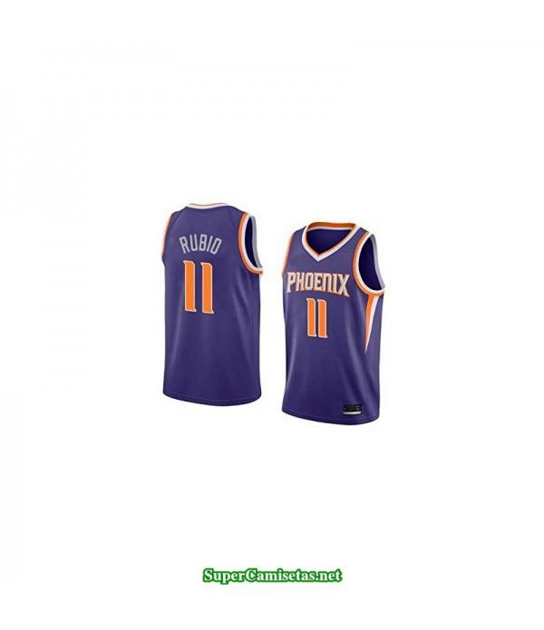 Camiseta Ricky Rubio 11 morada Phoenix Suns