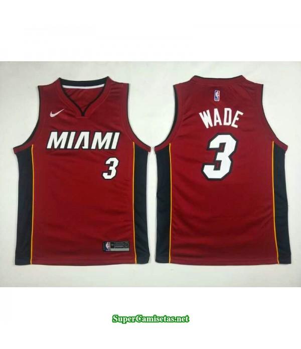 Camiseta Wade 2 roja Miami Heat