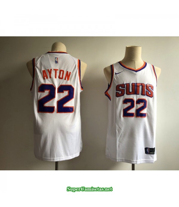 Camiseta 2018 Ayton 22 blanca Phoenix Suns