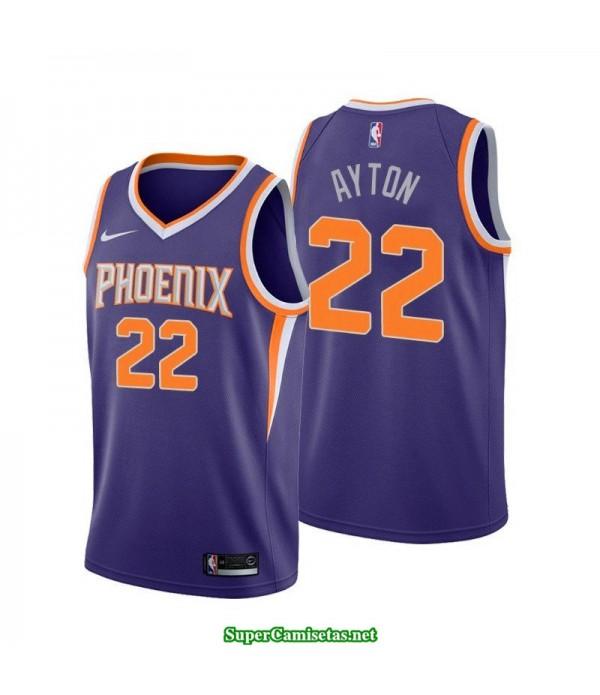Camiseta 2018 Ayton 22 morada Phoenix Suns