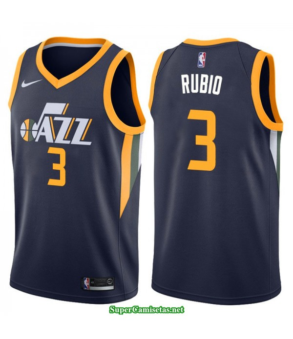 Camiseta 2018 Ricky Rubio 3 azul Utah Jazz