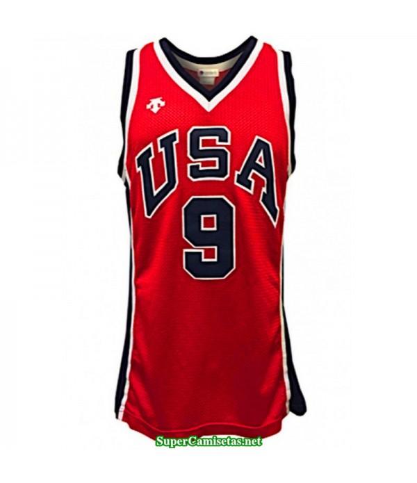 Camiseta Jordan 9 USA roja 2019