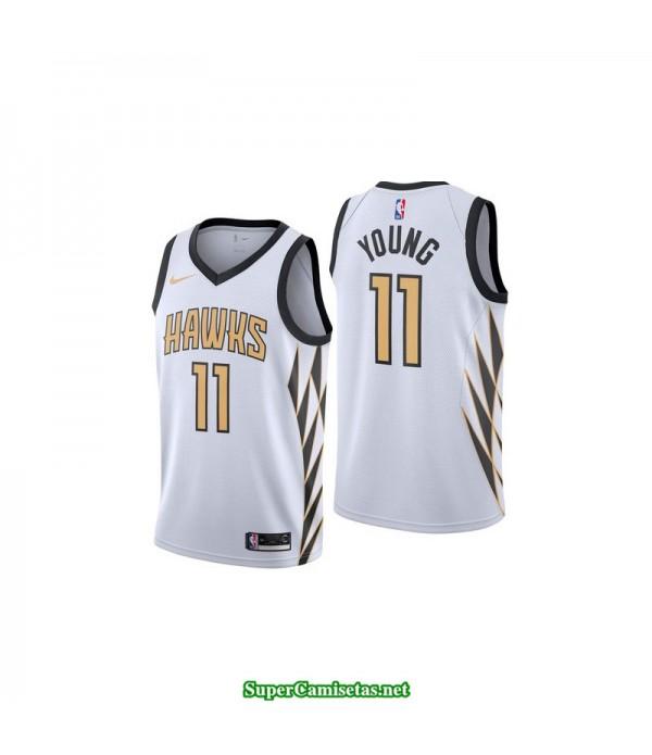 Camiseta Young 11 blanca Atlanta Hawks
