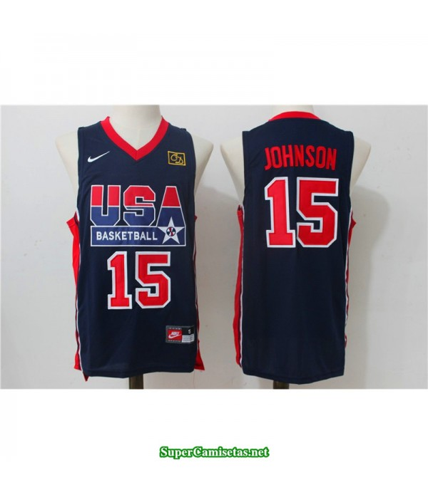 Camiseta Johnson 15 USA 1992 negra