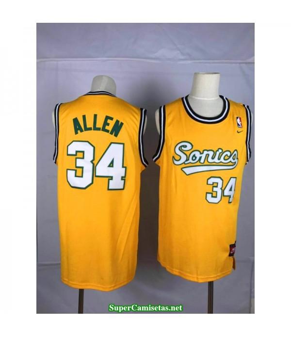 Camiseta Allen Seattle Sonic amarilla