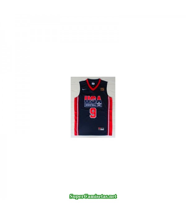 Camiseta Jordan 9 USA 1992 negra