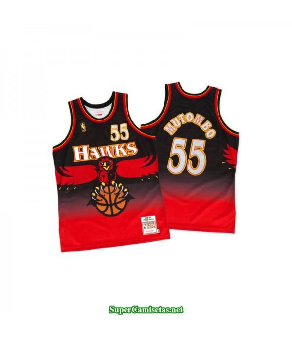 Camiseta Mutombo 55 Atlanta Hawks roja retro