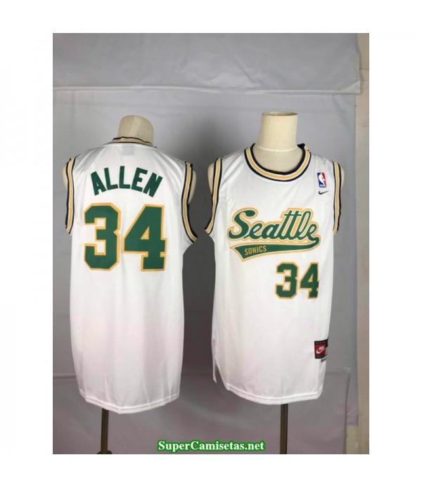 Camiseta Allen Seattle Sonic blanca