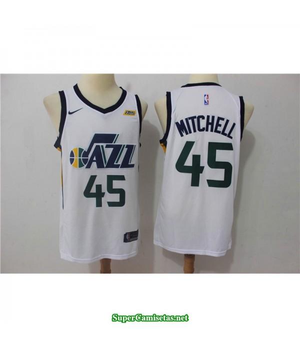 Camiseta 2018 Mitchell 45 blanca Utah Jazz