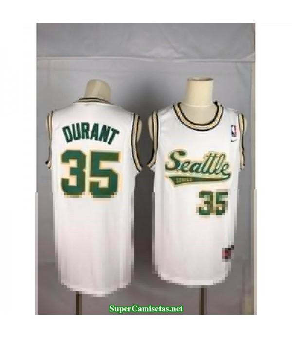 Camiseta Kevin Durant Seattle Sonic blanca