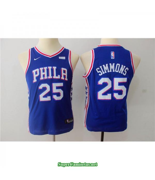 Camiseta NIÑOS Simmons 25 sixers azul