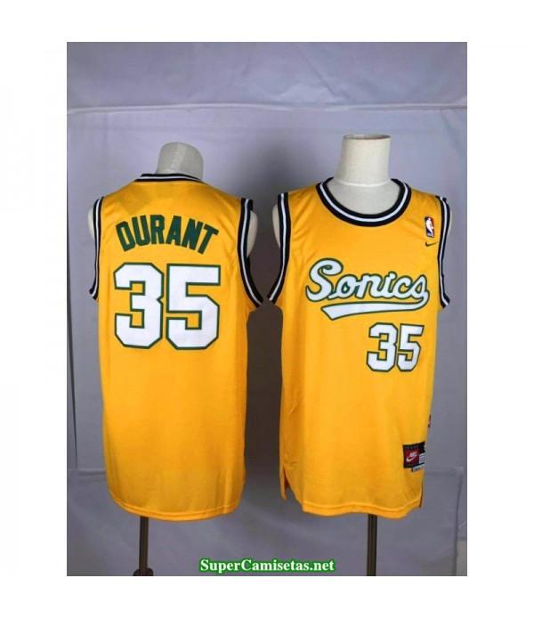 Camiseta Kevin Durant Seattle Sonic amarilla