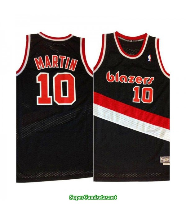 Camiseta Martin 10 negra Portland Trailbrazzers