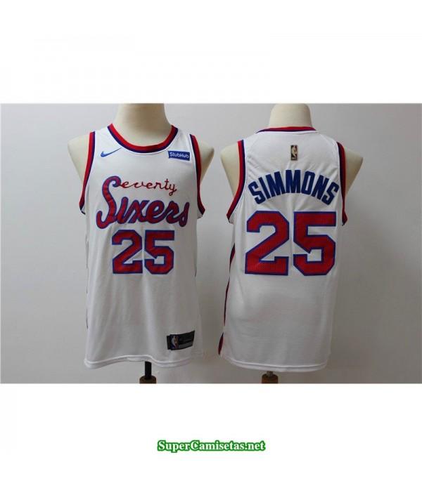 Camiseta 2019 Philadelphia blanca Simmons