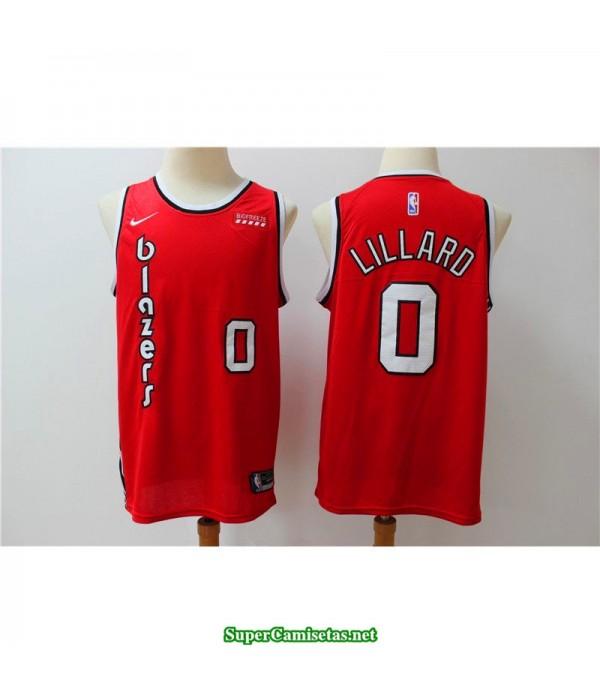 Camiseta 2020 Lillard 0 roja Portland Trailbrazzers