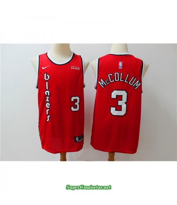 Camiseta 2020 Mccollum 3 roja Portland Trailbrazzers
