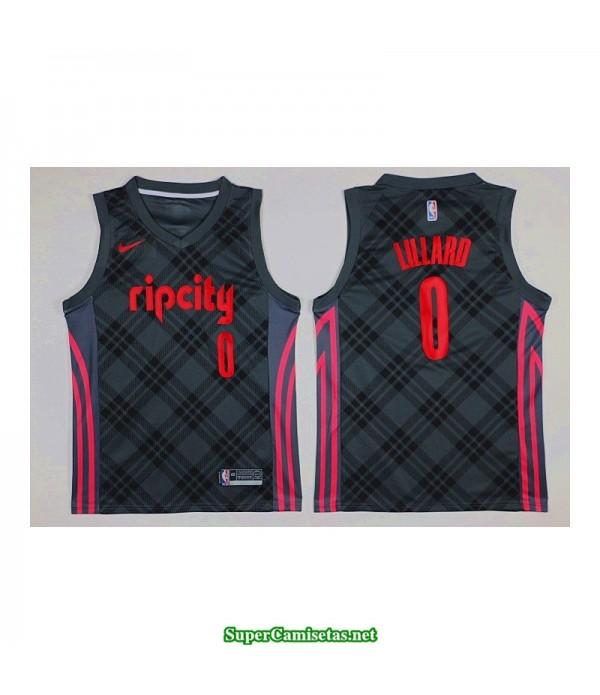 Camiseta 2018 Lillard 0 negra Portland RIPCITY