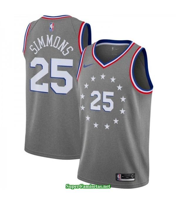 Camiseta 2019 Philadelphia Gris Simmons 25