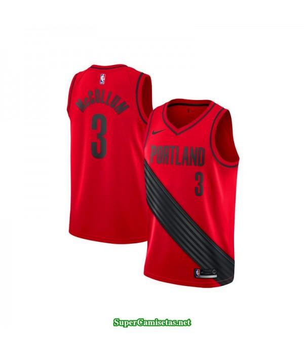 Camiseta 2018 Mccollum 3 roja Portland Trailbrazzers