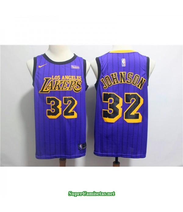 Camiseta Los Angeles Lakers Johnson 32 Morada