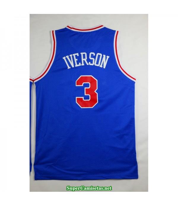 Camiseta Iverson 3 azul Philadelphia Sixers