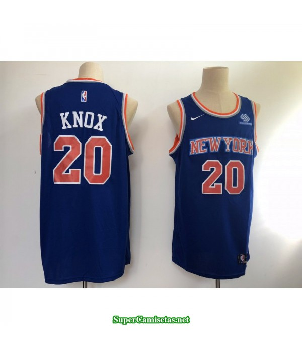 Camiseta 2018 Knox 20 azul New York Knicks