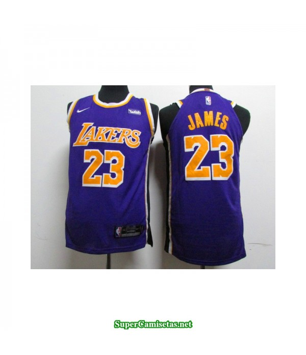 Camiseta Lebron James 23 morada Angeles Lakers RETRO