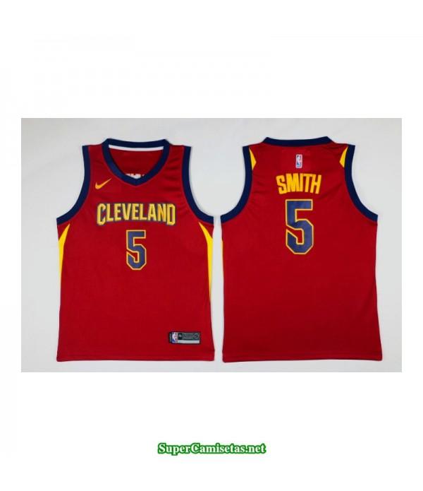 Camiseta Smith 5 roja Cleveland Cavaliers 2018