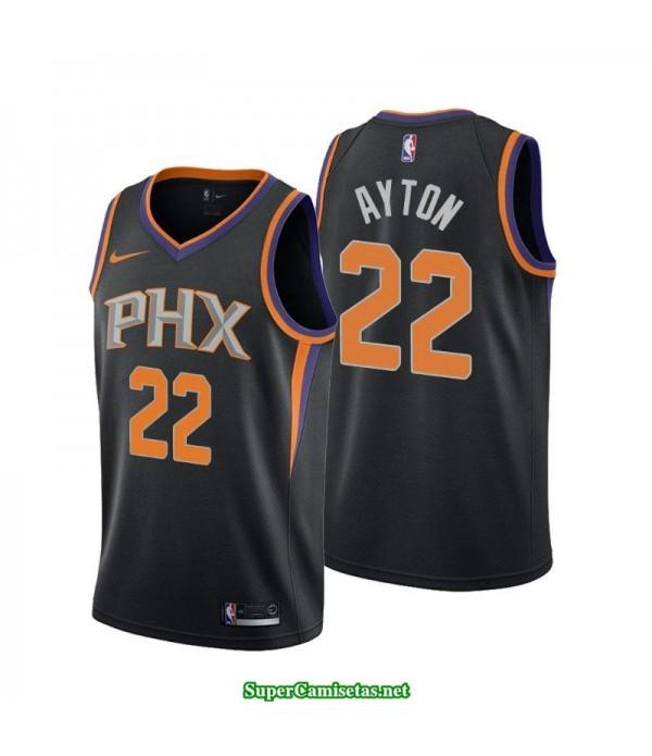 Camiseta 2018 Ayton 22 negra Phoenix Suns