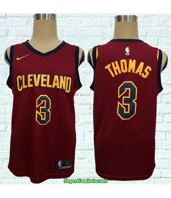 Camiseta Thomas 3 roja Cleveland Cavaliers 2018