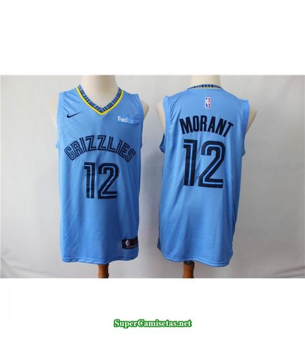 Camiseta 2019 Morant 12 Memphis Grizzlies azul