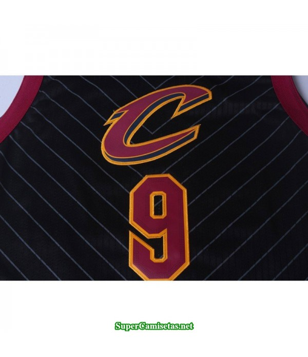 Camiseta Wade 9 negra rayas Cleveland Cavaliers 2018