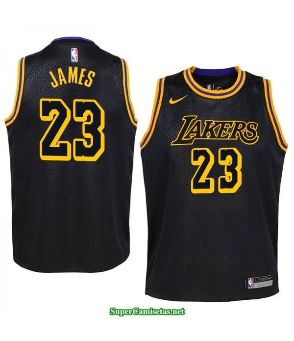 Camiseta Lebron James 23 negra Angeles Lakers