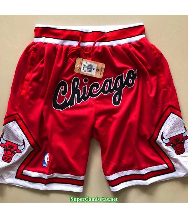 Pantalon Chicago Bulls 2019 roja retro