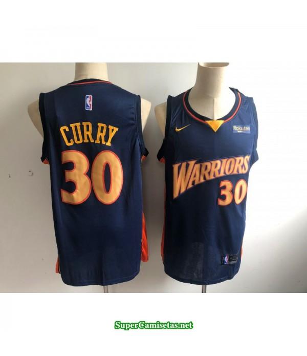 Camiseta 2019 Stephen Curry 30 azul oscura Golden State Warriors