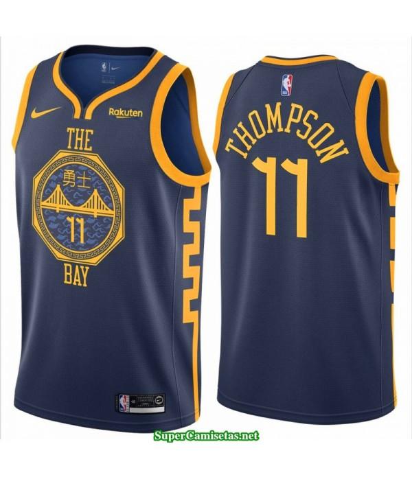 Camiseta 2019 Thompson 11 azul Golden State Warriors