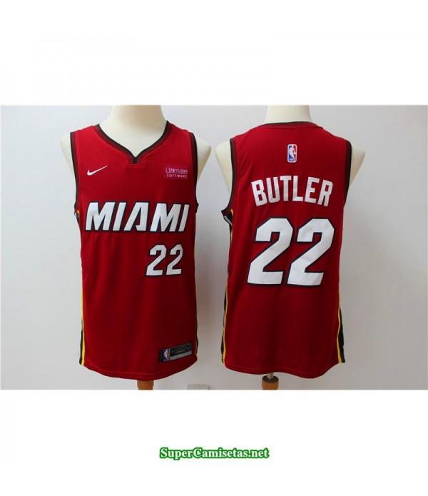Camiseta Butler 22 Roja Miami Heat city 2019