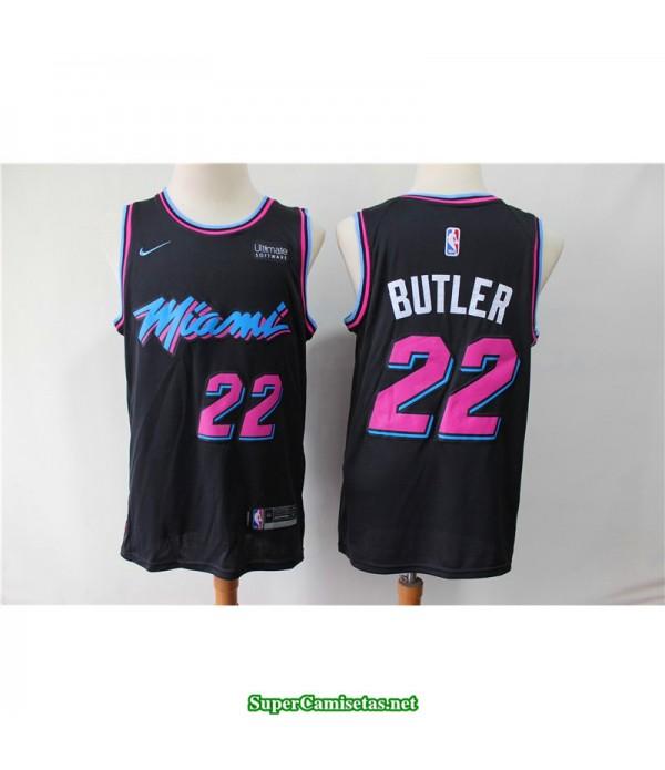 Camiseta Butler 22 negra Miami Heat city