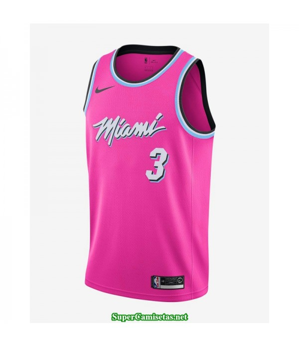 Camiseta Wade 3 rosa Miami Heat city