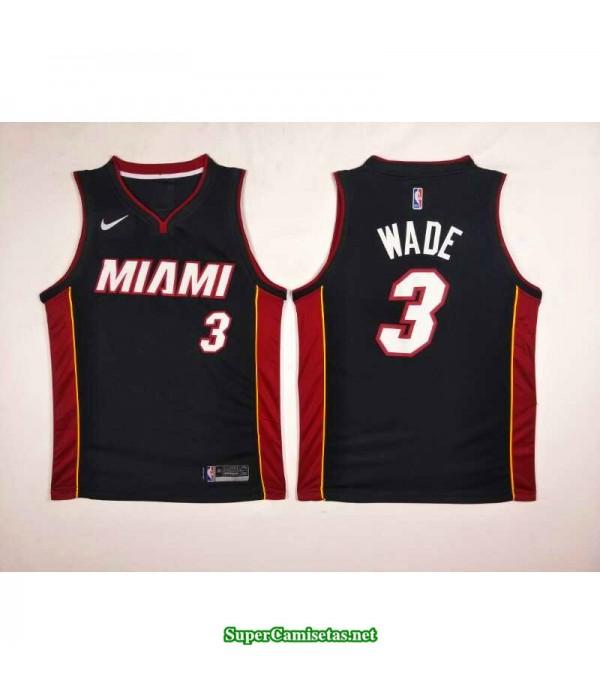 Camiseta Wade 2 negra Miami Heat