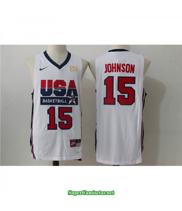 Camiseta Johnson 15 USA 1992 blanca