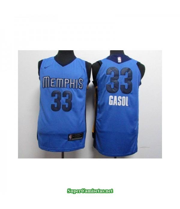 Camiseta 2018 Gasol 33 Memphis Grizzlies azul