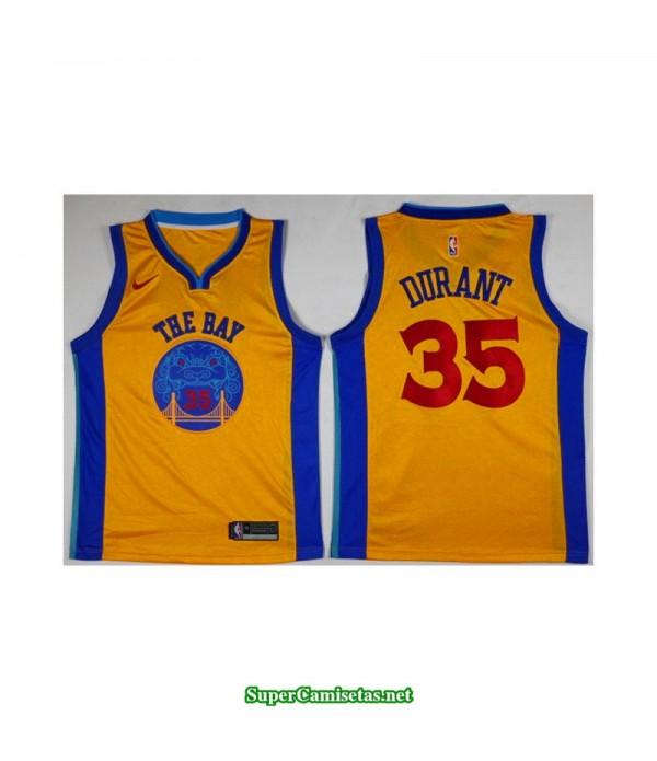 Camiseta Durant 35 the bay Golden State Warriors
