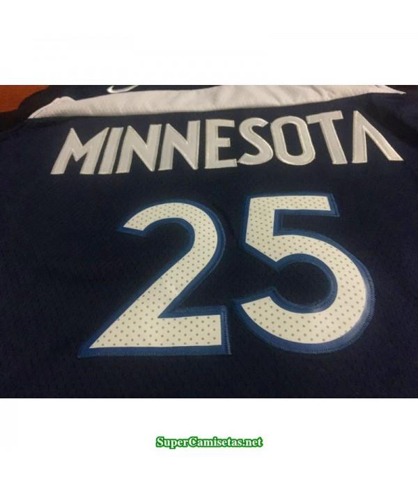 Camiseta 2019 Rose 25 azul Minnesota Wolves