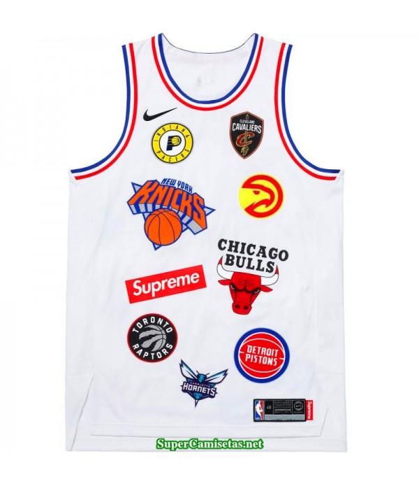 Camiseta NBA supre blanca