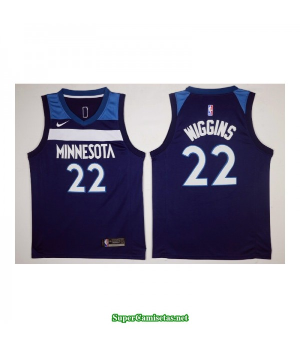 Camiseta 2018 Wiggins 22 azul Minnesota Wolves