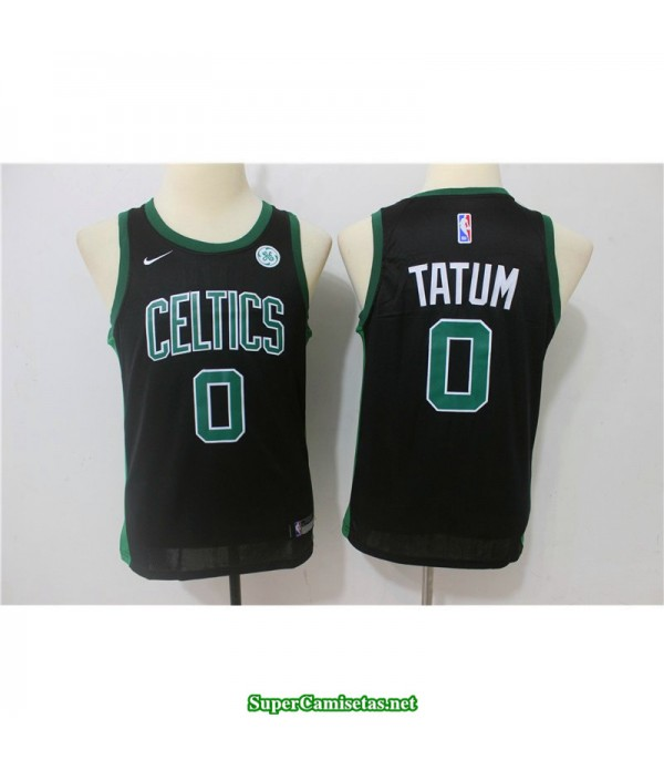 Camiseta NIÑOS Tatum 0 negra Boston Celtics